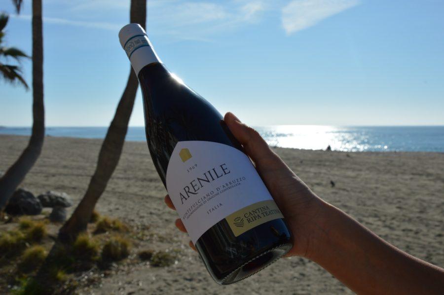 Bottiglia di vino Montepulciano d'Abruzzo